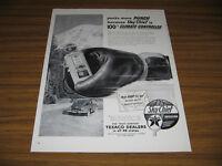 1953 Vintage Ad Texaco Sky Chief Gasoline Pump and Boxing Glove
