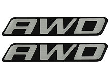 2 New OEM AWD Front Door Rear Hatch Truck Logo Emblem Badge Nameplate Decal Van