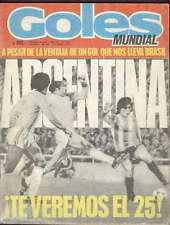 Goles Magazine Argentina Soccer World Cup 1978 Nº1537