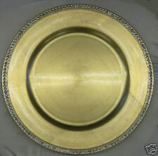 "13"" Gold Acrylic Charger Plate with rhinestone trim"