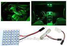 2x T10 & Festoon Universal 36 SMD Neon Green LED Panel Interior Dome Map Light