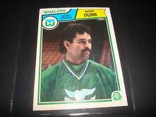 1983 O-PEE-CHEE #137 RICHIE DUNN WHALERS SABRES SIGNED AUTOGRAPH HOCKEY CARD