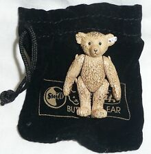 STEIFF PEWTER MINIATURE TEDDY BEAR - 1989 BRITISH COLLECTORS BEAR NEW WITH BAG