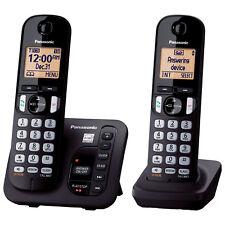 Panasonic 2-Handset DECT 6.0 Cordless Phone With Answering Machine (KXTGC222B)