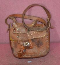 Vintage Horse Saddle Leather Shoulder Purse Bag.