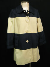 KATE SPADE Nera Navy Colorblock Bow Pockets Coat Size Medium $549