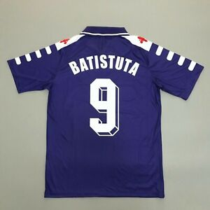 Fiorentina 1998-99 Home Football Shirt Retro Soccer Jersey Batistuta #9