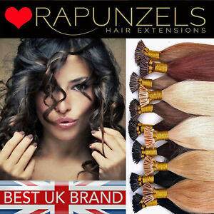 """Remy 20"""" pre bonded stick tip, i tip micro ring human hair extensions RAPUNZELS"""