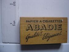 Authentique BOITE en BOIS Papier Cigarettes ABADIE vintage objet de métier