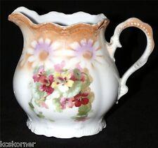 Vintage Leuchtenburg Germany Porcelain Creamer Hand Painted Lusterware