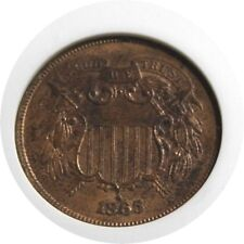 elf Two Cents   1865  Fancy 5  Civil War  ANACS MS 62 RB