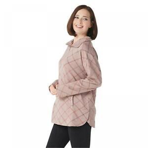 NWT Cuddl Duds Womens Comfortwear Half Zip Pullover. A310292
