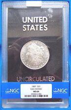 1887 Silver Morgan Dollar NGC MS 64 Non Carson City GSA Hoard Collection Coin