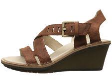 New Merrell SIRAH Lattice Leather Women Wedge Sandals Size 9 (MSRP $150) pb