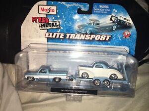 Maisto Elite Transpoort 1987 Chevy 1500/1941 Wilys Coupe NIP