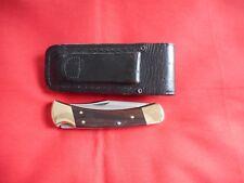 VINTAGE BUCK 110  WOOD HANDLES 1987 KNIFE