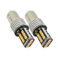 Sans erreur Amber Orange 15SMD BA15S P21/5W ampoule LED clignotant lumière Kit
