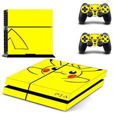 Pikachu adesivo della pelle per ps4 PLAYSTATION 4 CONSOLE + CONTROLLER