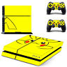 Pikachu Skin Sticker For PS4 Playstation 4 Console + Controllers