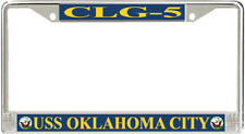 USS Oklahoma City CLG-5 License Plate Frame - American Made - Veteran Approved!