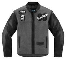 ICON 1000 Vigilante STICKUP Textile/Leather Motorcycle Jacket (Black/Gray) LG