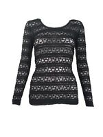 Guess By Marciano Womens Long Sleeve Lace Top XS