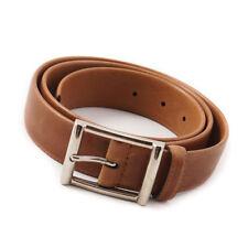 New $295 SANTONI Light Whiskey Brown Calf Leather Belt 38 Waist (95cm)