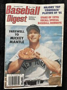 ⚾️November 1995 Baseball Digest - Farewell To Mickey Mantle Issue!