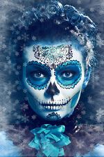 BEAUTIFUL MEXICAN SUGAR SKULL CANVAS PICTURE #52 STUNNING GOTHIC MAKE UP CANVAS