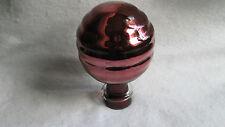 Ancienne boule en verre soufflé églomisé mercurisé Boule d'escalier extincteur ?