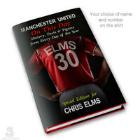MANCHESTER UNITED Book, PERSONALISED. History Facts. Man Utd Football Fan Gift