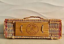 Wine Basket Box Wicker Barons de Rothschild Domaines FRANCE Reserve Armagnac