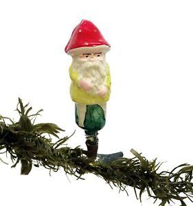 Dwarf / Gnome on Clip - Blown Glass Ornament, ca. 1930 (# 14512)