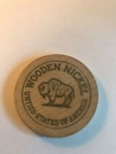 OLD CLARKSBURG WV WEST VIRGINIA WOODEN NICKEL! FREE SHIPPING! JOE D. WILLIAMS