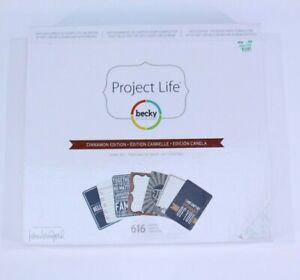 Project Life Cinnamon Edition Becky Higgins Kerri Bradford Core Kit 616 Card NEW