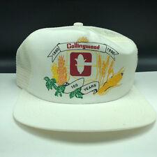 VINTAGE TRUCKER SNAPBACK HAT CAP Collingwood 100 years 1990 retro advertising US