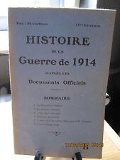 Histoire de la Guerre de 1914 d'après les Documents Officiels 11