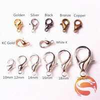 wholesale Lobster Clasps Hooks Jewelry Necklace Bracelet Brass All Size & Color
