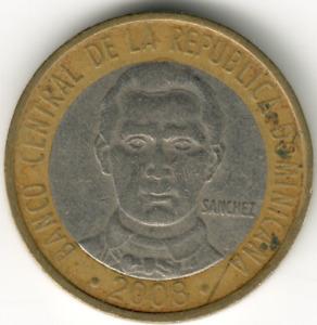 Dominican Republic - 5 Pesos -2008 - #1 - non-magnetic