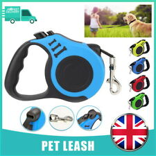More details for durable dog leash retractable nylon lead extending puppy walking running leads