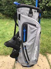 TaylorMade FlexTech Golf Stand Bag / 5 Way / Grey, Royal Blue / Excellent