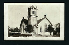 Dysart Iowa IA 1910 RPPC Old Wooden Evangelical Church Building, Horse Stalls