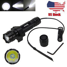 5000LM T6 LED Tactical Flashlight Torch Shotgun +Remote Pressure Switch +Mount Q