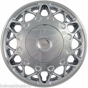 """NEW 1997-2005 Buick CENTURY 15"""" CHROME 2-piece Screw-on Hubcap Center Wheelcover"""