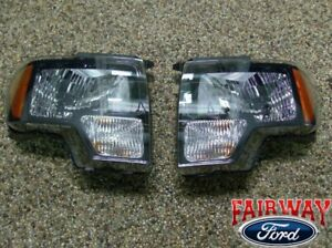 2009 thru 2014 Ford F-150 SVT Raptor Black Halogen Headlight Set (pair)