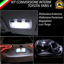 KIT LED INTERNI + LED TARGA TOYOTA YARIS 4 IV CONVERSIONE COMPLETA 6000K CANBUS