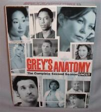 DVD GREY'S ANATOMY SEASON TWO (2) UNCUT 6 Disc BOX SET NEAR MINT