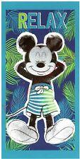 Serviette de plage Mickey Mouse relax, drap de bain pas cher, Disney neuf