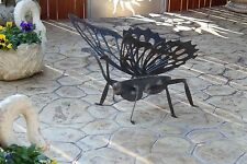 Arredamento giardino farfalla ferro battuto artigianale scultura butterfly