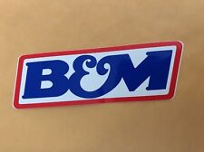 B&M racing products decals sticker NASCAR NHRA drag racing contingency